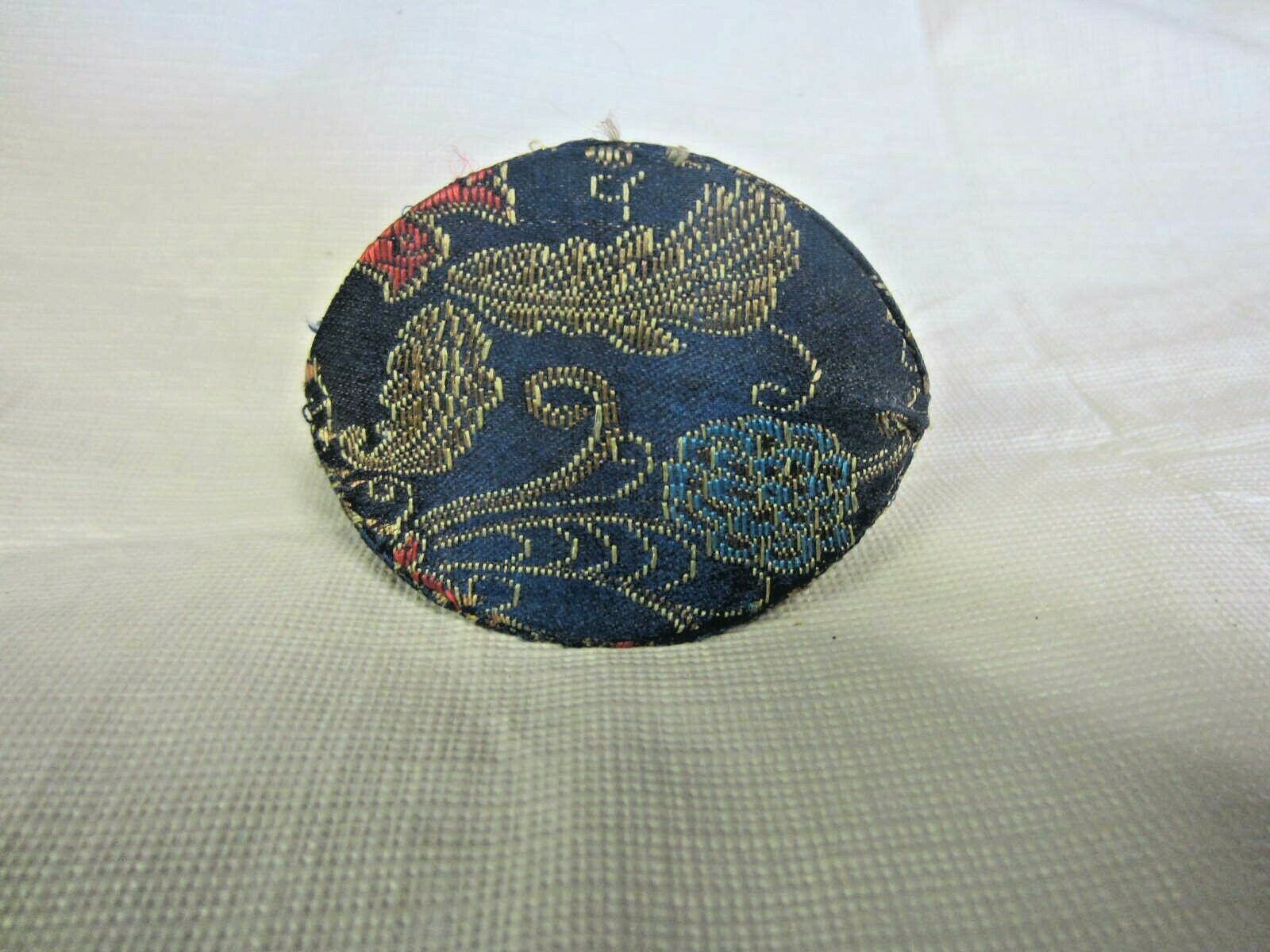 Chinese Fortune Cookie Coin Purse Blue With Flower Design