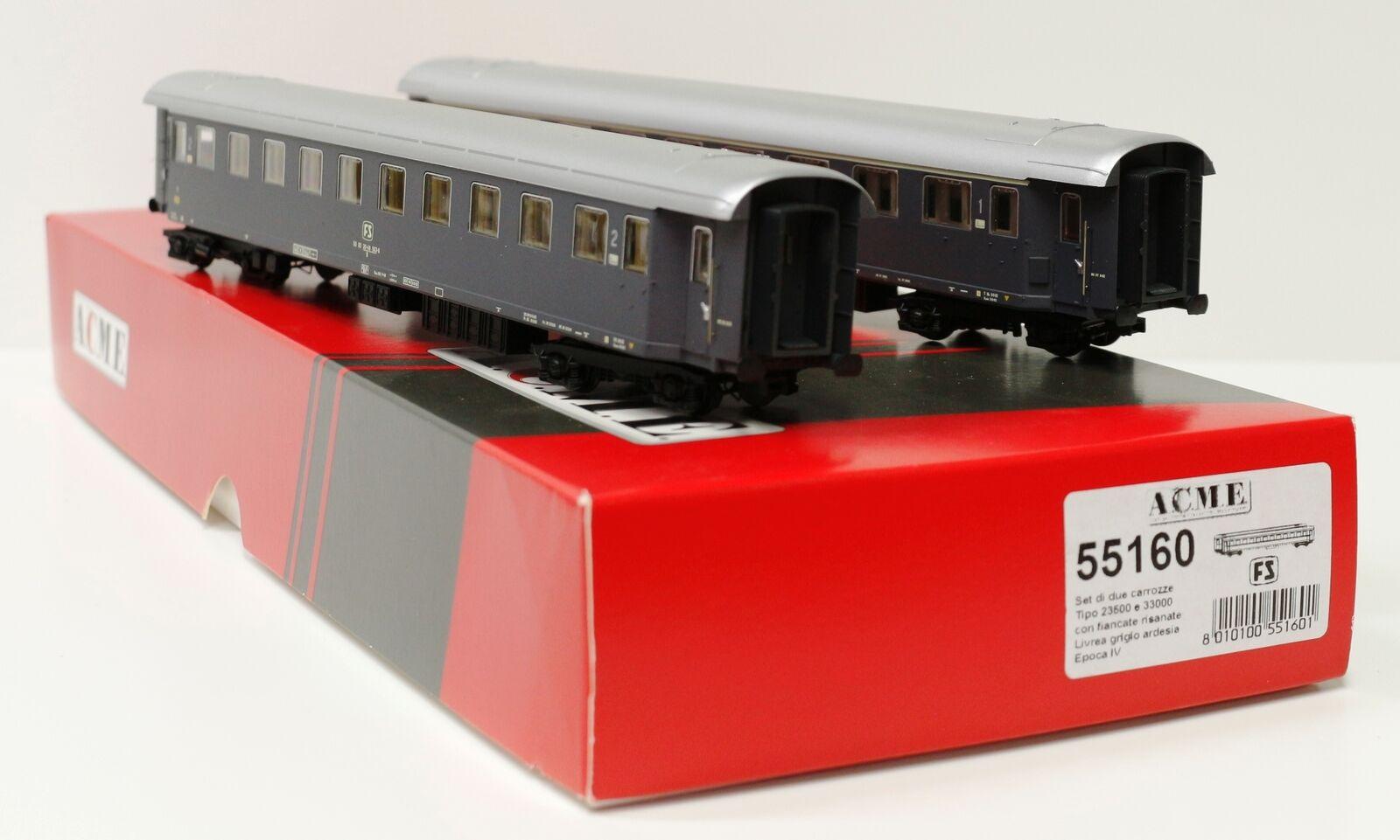 55160 Acme Ho FS Set mit Zwei Personenwagen davon eine Art 23500 Spur 1 87