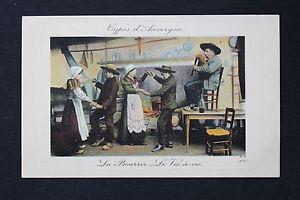Postcard-Antique-CPA-Types-D-039-Auvergne-La-Bourree-The-Opposite-A-Vis