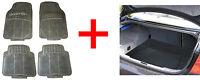 4 Piece Waterproof Heavy Duty BLACK Rubber Front/Rear Car Floor Mats boot liner