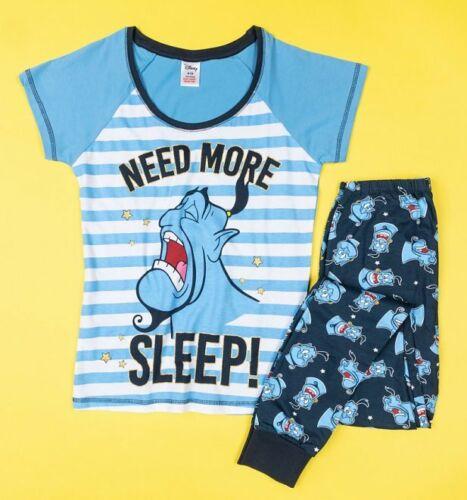 Official Women/'s The Genie Need More Sleep Aladdin Pyjamas
