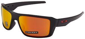 Oakley Double Edge Sunglasses OO9380-0566 Matte Black   Prizm Ruby Polarized NIB