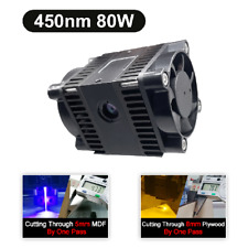 Blue 80with10w Laser Module Head For Cnc Engraving Cutter Laser Engraver Machine