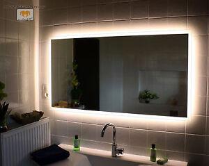 Led Badspiegel Allround Nach Mass Mit Beleuchtung Wandspiegel