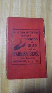 """Début Des Années 1900 Parrish Bros Chaussures Publicité écrit """"tableau Noir"""" Pages Richmond-afficher Le Titre D'origine 8o3j0ywd-08002726-332806793"""