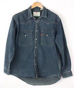 LEVI'S STRAUSS & CO Hommes Décontracté Jean Vintage Chemise Taille L BAZ702