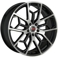 4 Revolution R23 20x8 5x45 40mm Blackmachined Wheels Rims 20 Inch Fits 2011 Toyota Camry