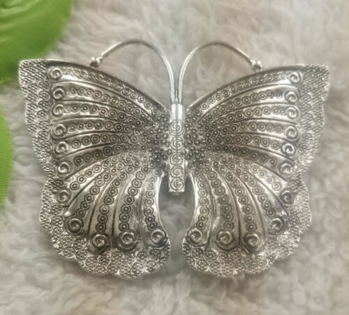 Free Ship 16 pcs tibet silver butterfly charms pendant 61x79mm B4952