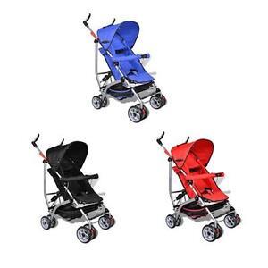 Red-Blue-Black-Baby-Stroller-Pram-Kid-Toddler-Child-Jogger-Bassinet-Wheel-Seat