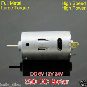 Dc 6v 12v 24v 26000rpm high speed large torque 390 dc for High torque high speed dc motor