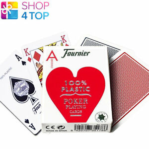 Details about FOURNIER 2500 100% PLASTIC CASINO POKER PLAYING CARDS DECK  STANDARD INDEX RED