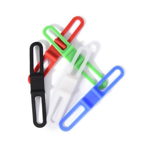1//2//5X bicycle light holder bike handlebar fixing elastic bands color random TB