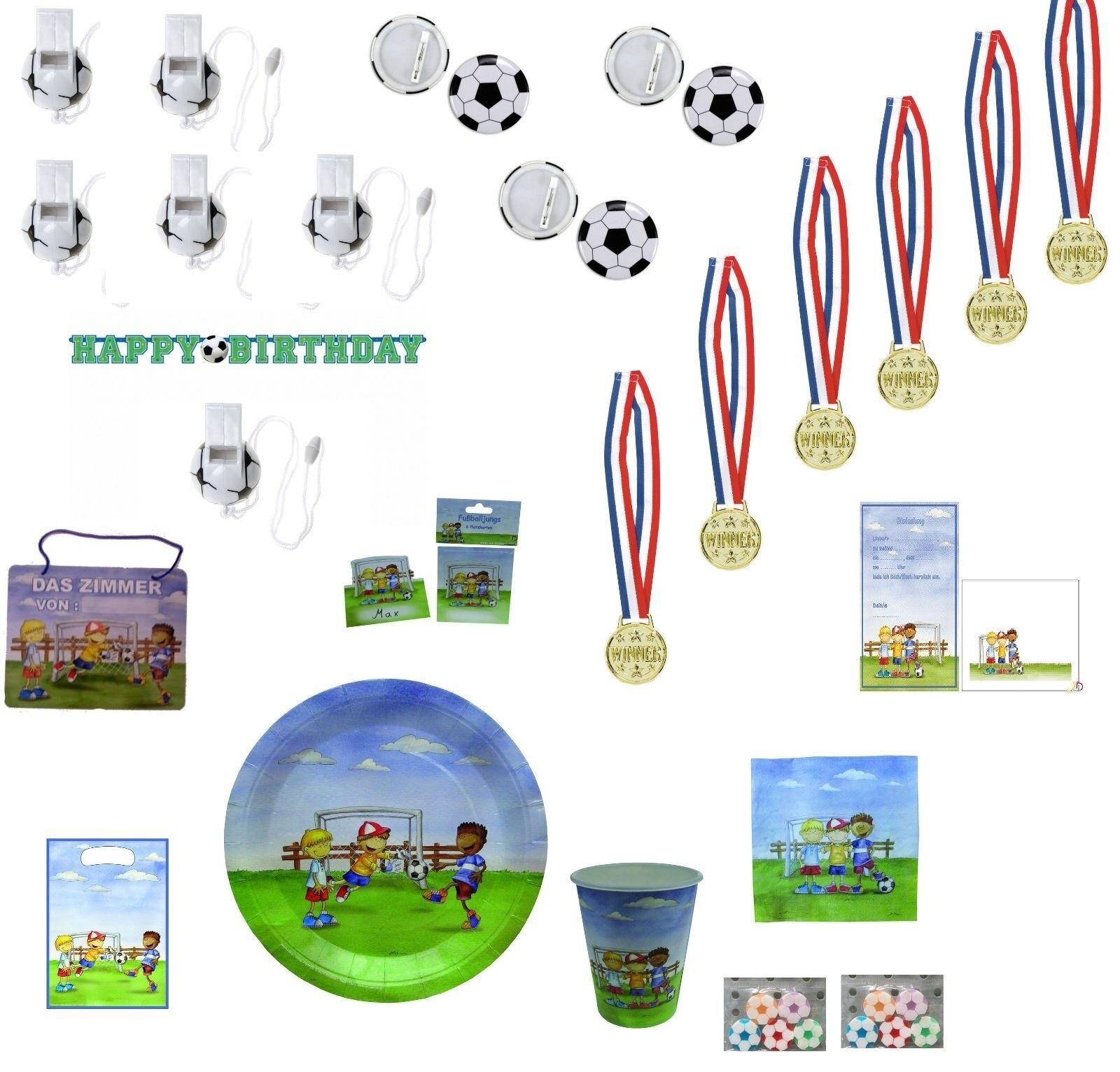 Fussball 96 Teile Kindergeburtstag 6 Kinder Fußball party Mottoparty Mitgebsel | Ab dem neuesten Modell  | Bequeme Berührung