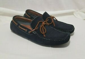 aldo driving loafer navy blue suede slip on men's casual