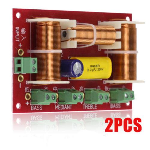 2Pcs 200W 4 Way 3 Way Treble/&Midrange/&Dual Bass Speaker Crossover Audio Divider