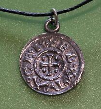 Replica Viking Jorvik York Penny Coin Pewter Pendant Necklace