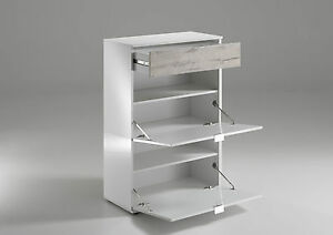 Image Is Loading Shoe Cabinet High Gloss White Multi