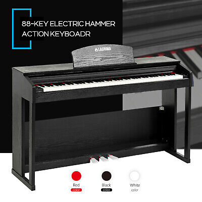 88 key music electric weighted action digital piano keyboard w pedal cover stand ebay. Black Bedroom Furniture Sets. Home Design Ideas