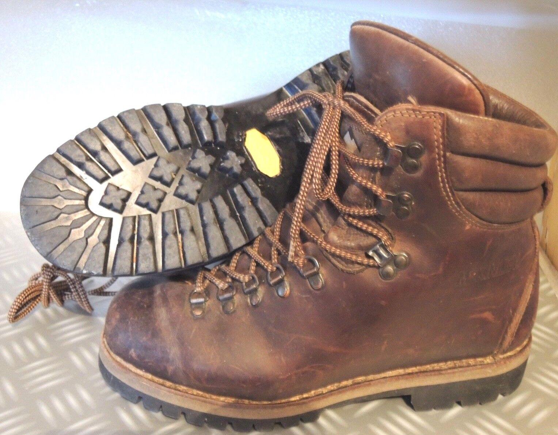 Stivali di pelle Montagna escursionismo Mc KINLEY suola VIBRAM 8 12 W Taglia 42
