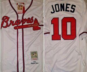 best cheap 94e9d 7a84c Details about Retro Atlanta Braves Chipper Jones Throwback White Replica  XXL Baseball Jersey