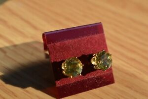 3-92ct-Yellow-Apatite-Earrings-14K-YG-over-Sterling-Silver-8mm-VVS-Nice
