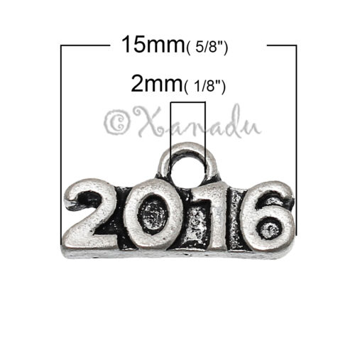 2016 Wholesale Antiqued Silver Plated Pendant Charms C8181-10 20 Or 50PCs