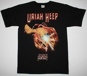 Aggressiv Uriah Heep Return To Fantasy Black T Shirt Styx Nazareth Hard Rock Deep Purple