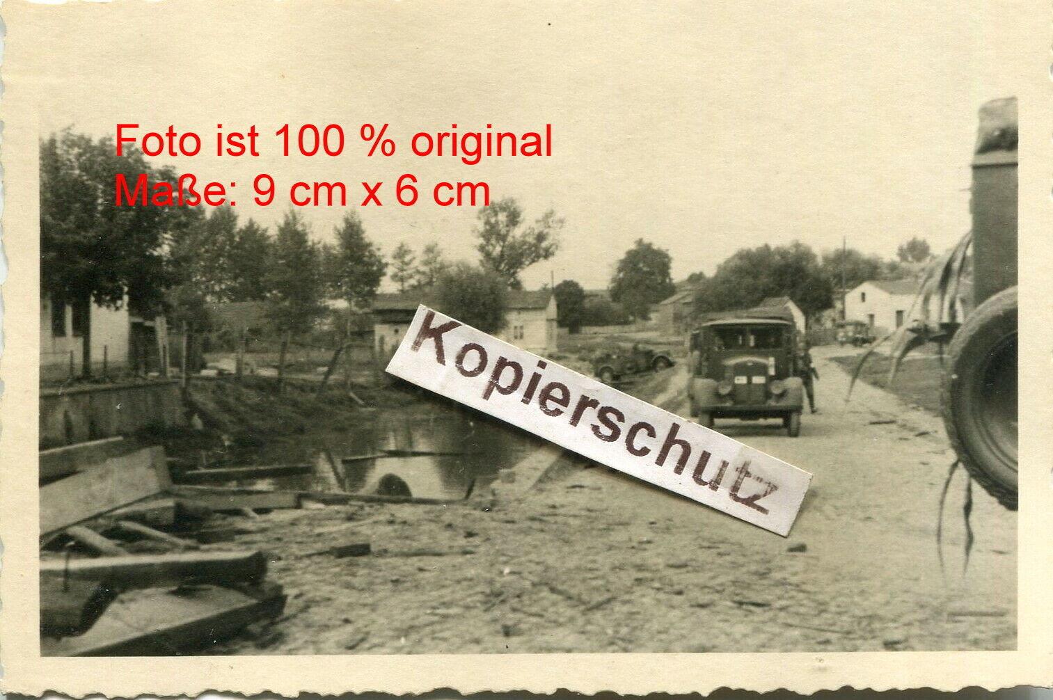 Bild 1 - Polen , 1 Panzer Division , Zerstörung bei Kłobuck , Fahrzeuge