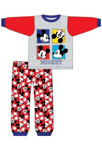 BOYS KIDS CHILDREN DISNEY MICKEY MOUSE PYJAMAS SNUGGLE PJ NIGHTWEAR 6-24MTHS