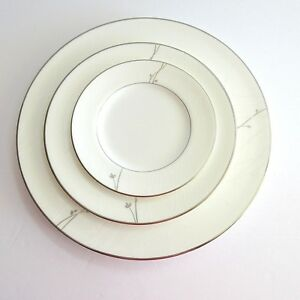 Waterford-LISETTE-China-Dinnerware-3-pc-Place-Setting-Plate-Salad-Bread-amp-Butter