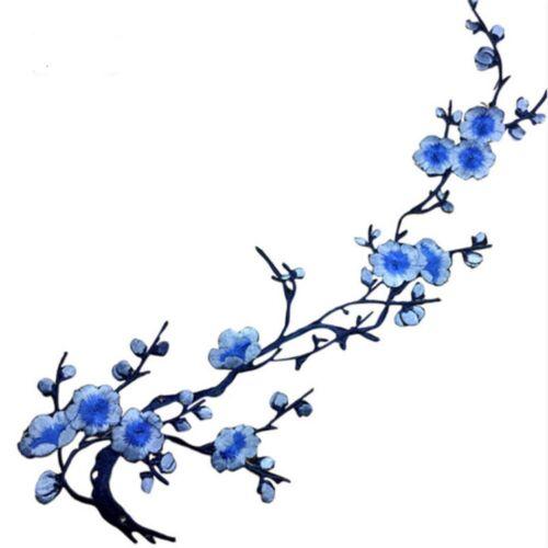 Applique Broderie  Thermocollant  Branche de cerisier Rouge