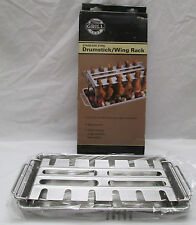 Grill Shop Stainless Steel Drumstick Wing Rack New in Box Grilling BBQ Picnic