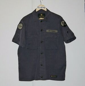 Neighbourhood-NBHD-Militray-BDU-Half-Sleeve-Work-Shirt-Made-In-Japan-L-USED