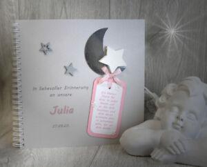 """Kleidung & Accessoires Erinnerungsbuch """"sternenkind"""" 17002 Rosa Modern Und Elegant In Mode Hochzeit & Besondere Anlässe"""