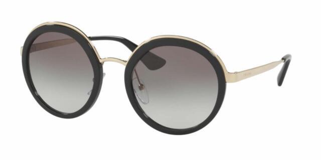 b0893b40b5 PRADA 50ts Sunglasses 1ab0a7 Black 100 Authentic for sale online | eBay