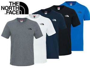 The-North-Face-T-shirt-homme-logo-a-manches-courtes-T-shirt-Coton-Ras-du-cou