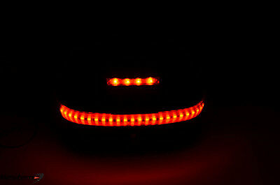 Honda Silverwing T-box Top Box Case Backrest Trunk w/ LED Light Kit, Matte Finis