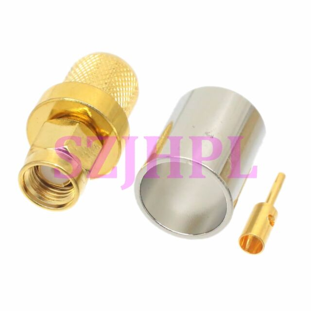 1pce RP-SMA Male Jack Crimp for RG8 RG213 RG165 LMR400 7D-FB RF Coax Connector