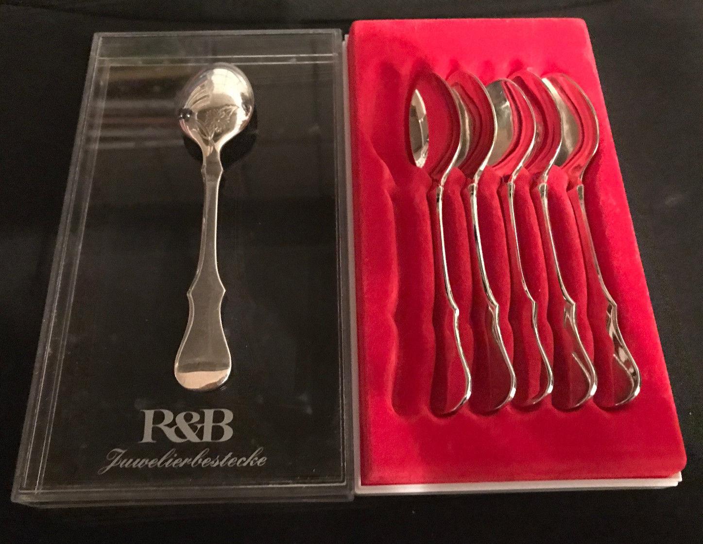 R&B Robbe & Berking Alt Kopenhagen 150er 150er 150er massiv Versilberung 5 Teelöffel TOP | Online-Exportgeschäft  a09cbc