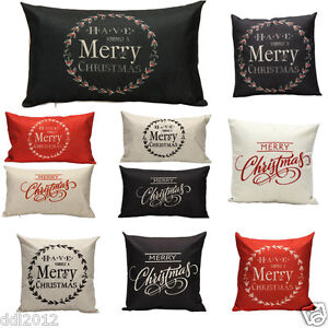 Merry-Christmas-Letter-Sofa-Bed-Home-Decoration-Pillow-Case-Cushion-Cover-Linen