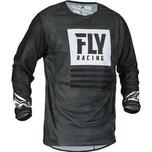 Fly Racing 2019.5 Kinetic Mesh Noiz Jersey 373-310 BLACK//WHITE