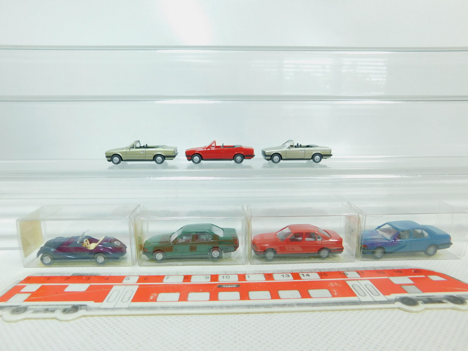 Bn102-0, 5  7x WIKING h0 1 87 Voiture Modèle BMW 325  520  750  328, Neuw 4x Neuf dans sa boîte