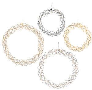 LED-Kranz-30cm-45cm-chrom-silber-messing-gold-Lichtkranz-Tuerkranz-IP20
