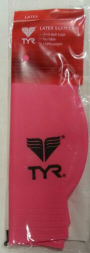 TYR Latex Swim Cap Classic C Size LCL 970  Neon Pink or Blue