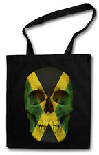 Jamaica Skull Flag Hipster BAG-BORSA TESSUTO STOFFA sacchetto sacchetto Iuta-Giamaica