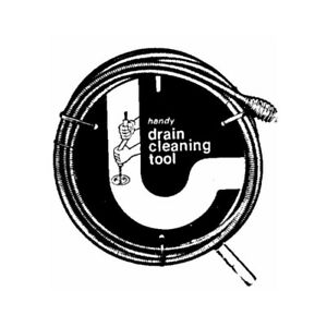 """GENERAL WIRE SPRING 15PQH Drain Auger with Handle, 1/4"""" x 15'"""