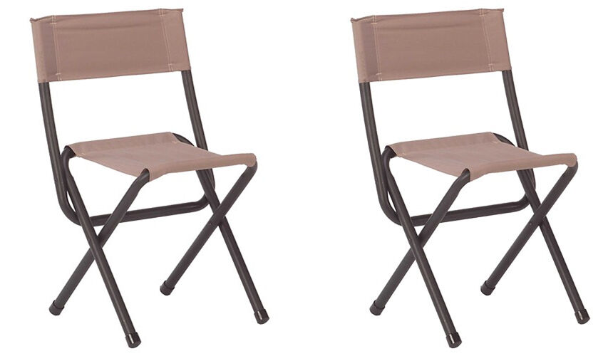 (2) COLEMAN Portable Outdoor Camping & Hunting Woodsman II Folding Chair Stools