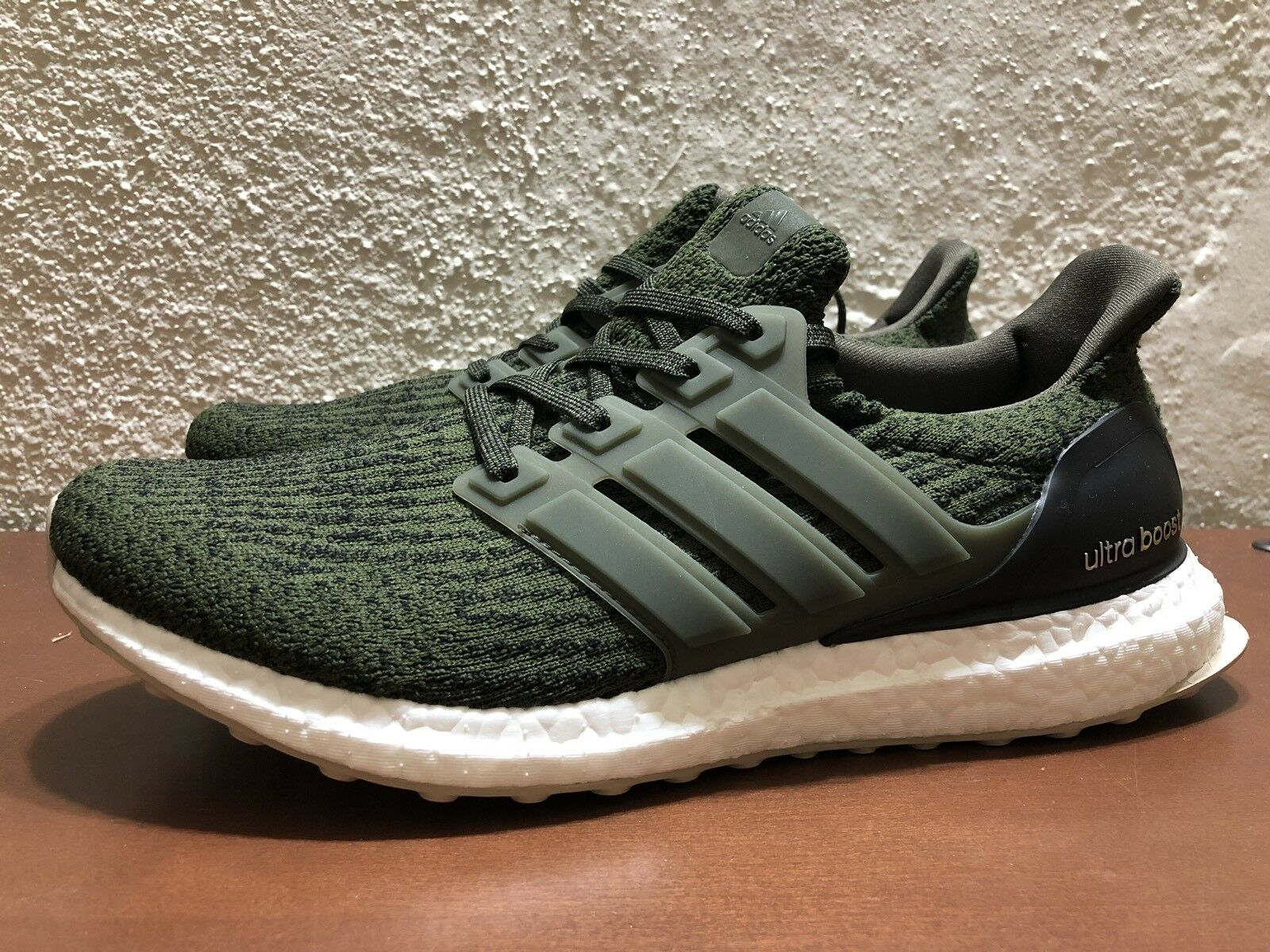 adidas Ultra Boost 3.0 Night Cargo Olive Green S80637 Mens size 8.5 NEW Running