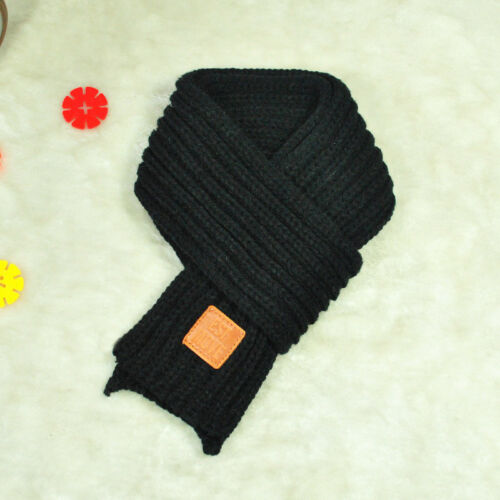 Fashion Children Knitted Scarf Thicken Winter Warm Kids Boys Girls Neck Scarves
