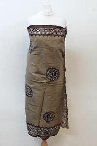 "JIGSAW Ladies Brown Patterned Cotton Rectangular Beach Wrap Sarong 42"" x 70"""